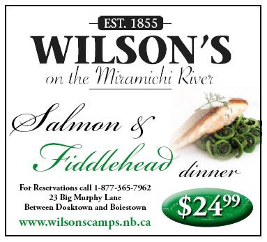 Salmon and Fiddlehead Dinner