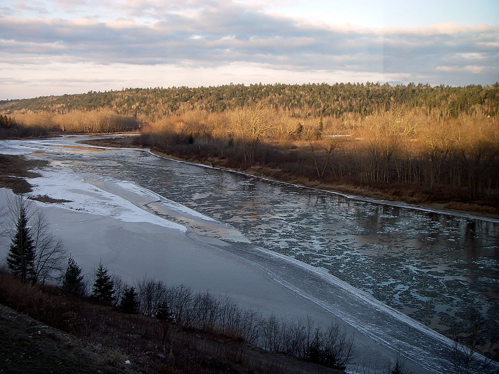 Miramichi River Ice Nov 29 2012