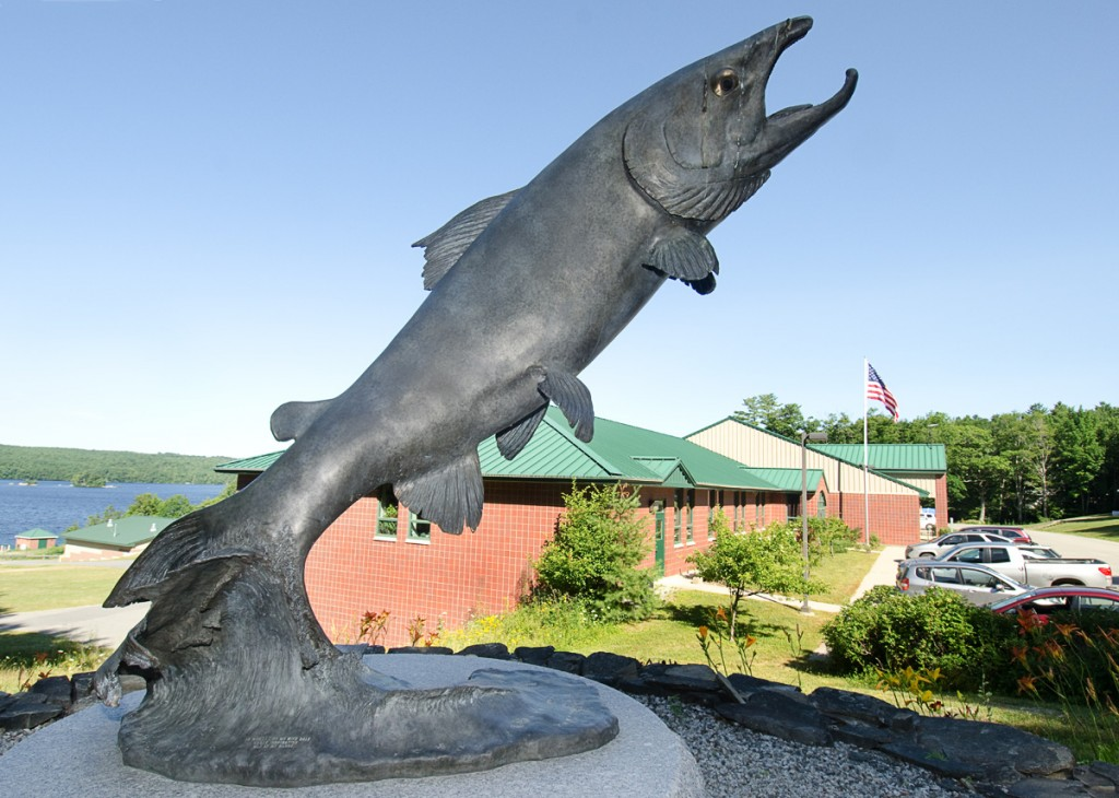 Sculpture, Craig Brook National Fish Hatchery. Photo Tom Moffatt