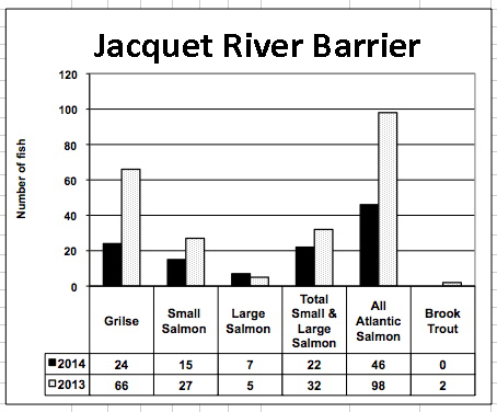 Jacquet River Barrier to July 27