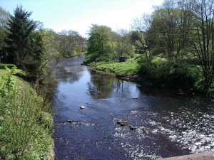 River Ayr at Sorn, in southwest Scotland.