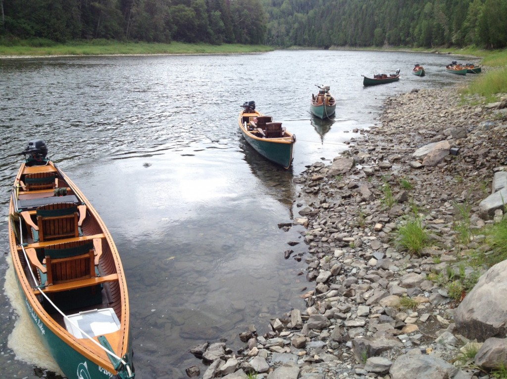 Canoes in front of Larry's Gulch. Photo: Geoff Giffin/ASF