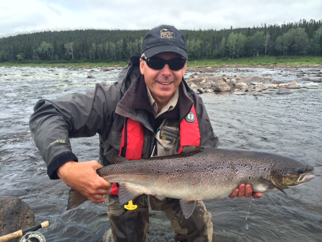 A beautiful fish released on the Eagle River in Labrador.