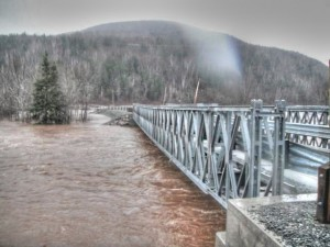 Dec. 15, 2010 Flood on Margaree - photo John Hart