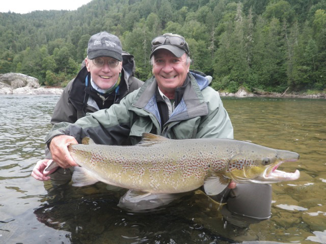 Mike Harper landed a 15 lb. salmon at Captain Pool on the B Sector of the Grand Cascapedia on Aug. 28, 2014.
