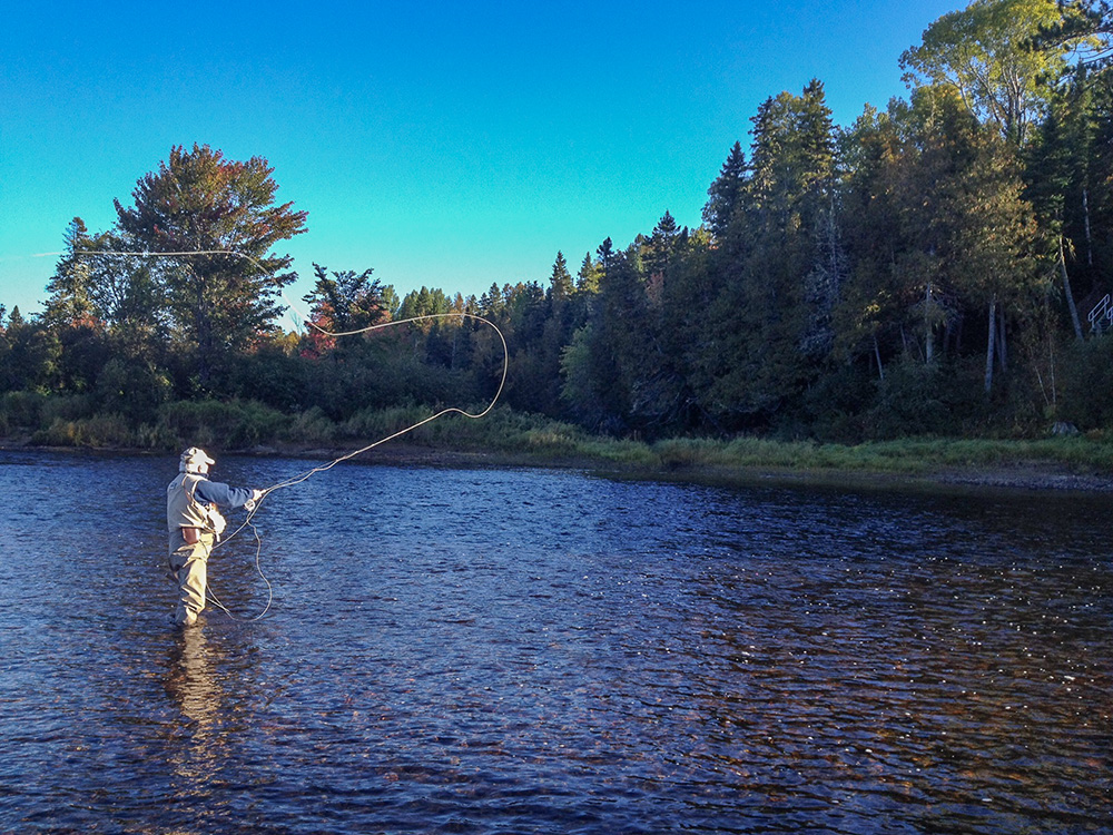 Angling on the Little Southwest Miramichi this week. Crisp air, cool water. Great experience. Photo Geoff Giffin