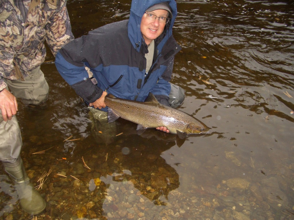 Jeff Hall releases a nice salmon on Oct. 1. Photo: Upper Oxbow Adventures.