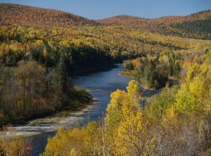 Matapedia River, October - photo Charles Cusson