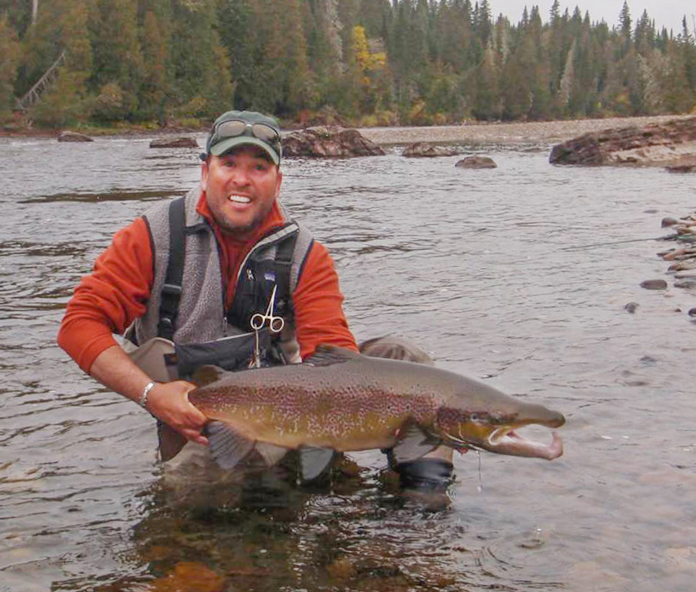 Peter Bennett released 21 and 24 pounders at Forks Pool on  the Grand Cascapedia the last week in September.